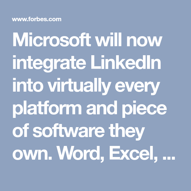 Microsoft's Acquisition Of LinkedIn Changed The Job Search