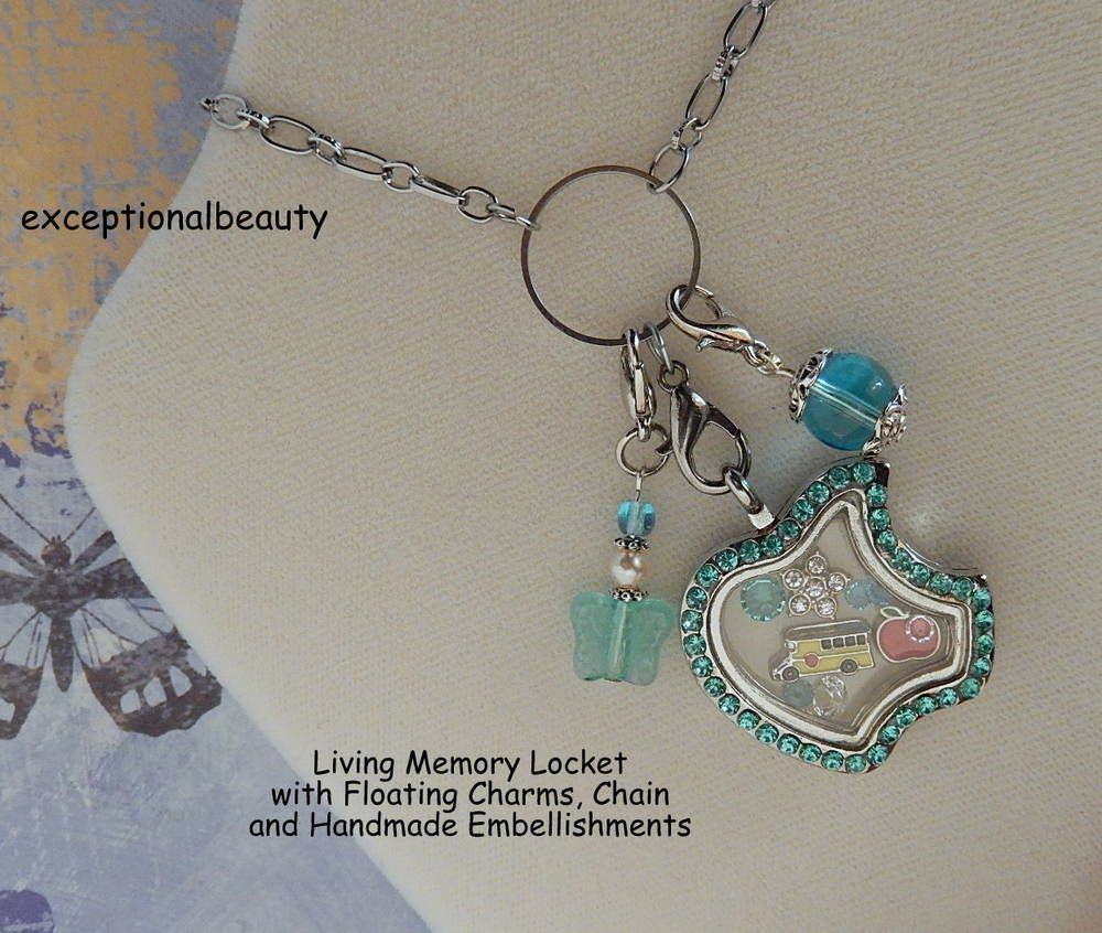Stainless steel living memory locket teacher floating charms pendant