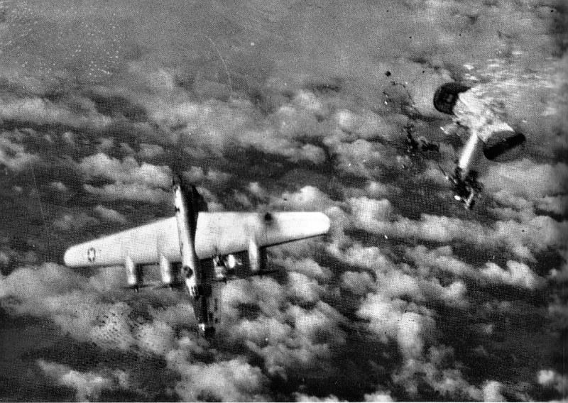 HERE WE SEE the SAD ENDING of the entire crew of the B-24 that LOST its tail HIT by ANTI AIR BOMBING over Germany in 1944