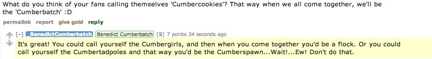 Benedict Reddit takeover.
