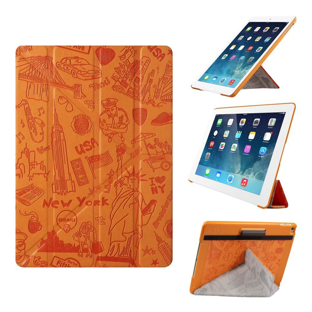 Amazon Com Ipad Air 2 Case Ozaki O Coat Travel Versatile New Generation 360 Multi Angle Smart Case For Apple Ipad Air 2 Y Tech For Steady Portrait Landsc