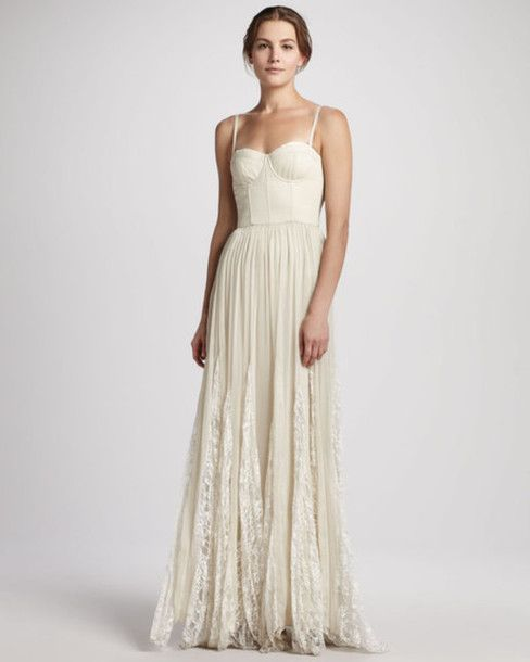 Dress: ball gown prom white long maxi prom ball gown ball gown cream ...