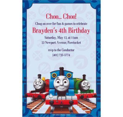 Thomas the Tank Engine Custom Invitations Calebs 2nd birthday