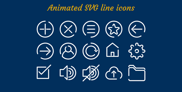 Animated SVG line icons | Css | Animated svg icons, Svg animation