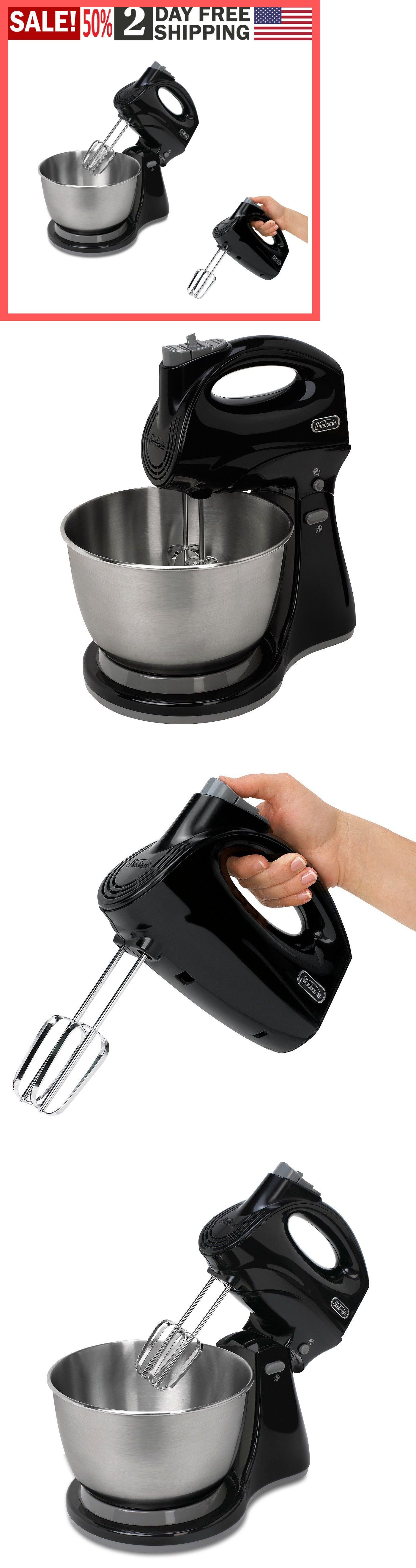 Countertop Mixers 133701 Stand Mixer 3 Quart Sunbeam Mixmaster Combo And Stand Black Fpsbhs0302 Buy It Now Only Kitchen Aid Kitchen Aid Mixer Kitchen Cups