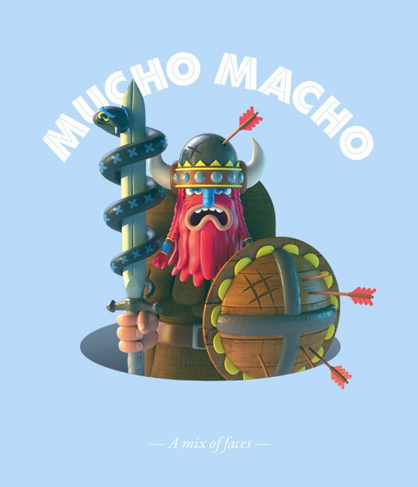 Mucho Macho by El Grand Chamaco, via Behance