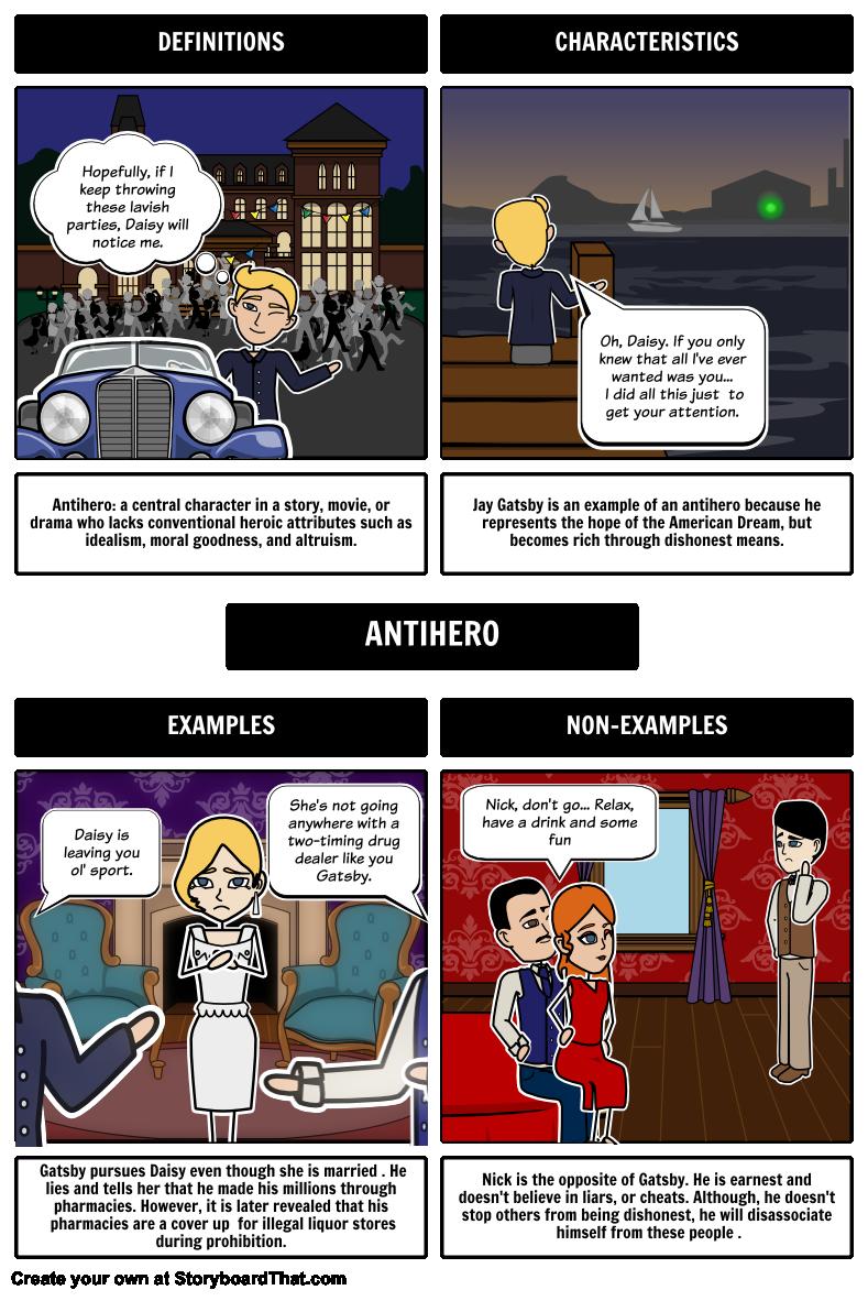Gatsby Frayer Antihero Storyboard By Rebeccaray Special Needs