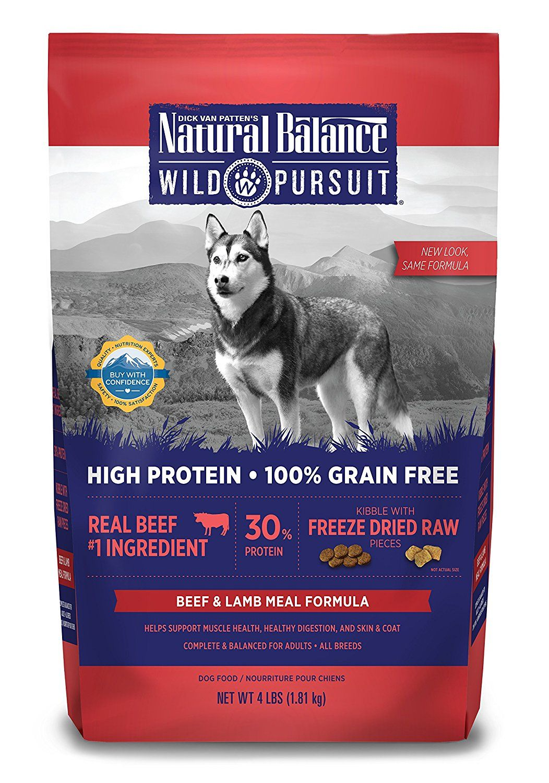 Natural balance wild pursuit formula dry dog food to