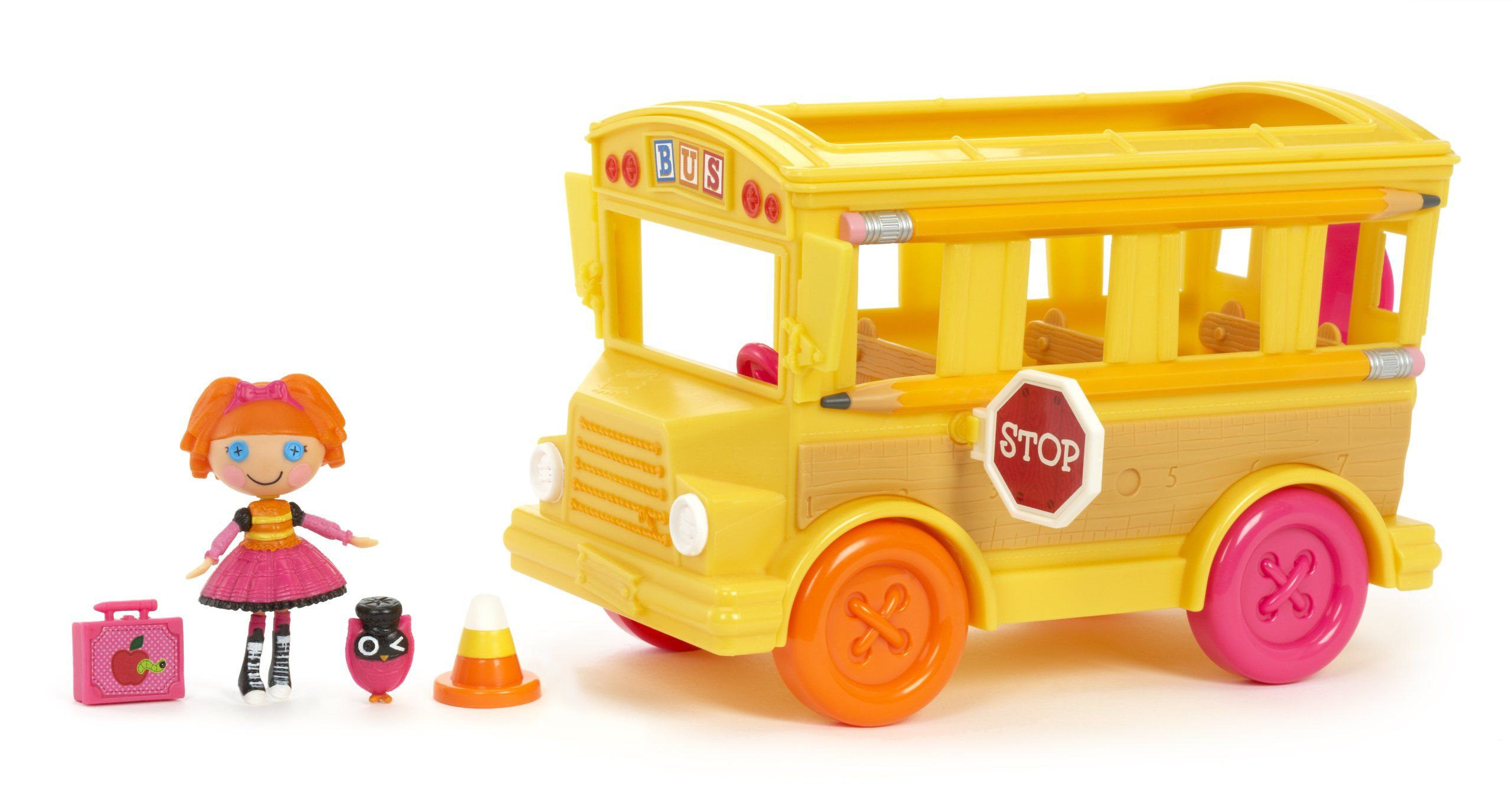 Amazon.com: Mini Lalaloopsy Bea's School Bus: Toys & Games