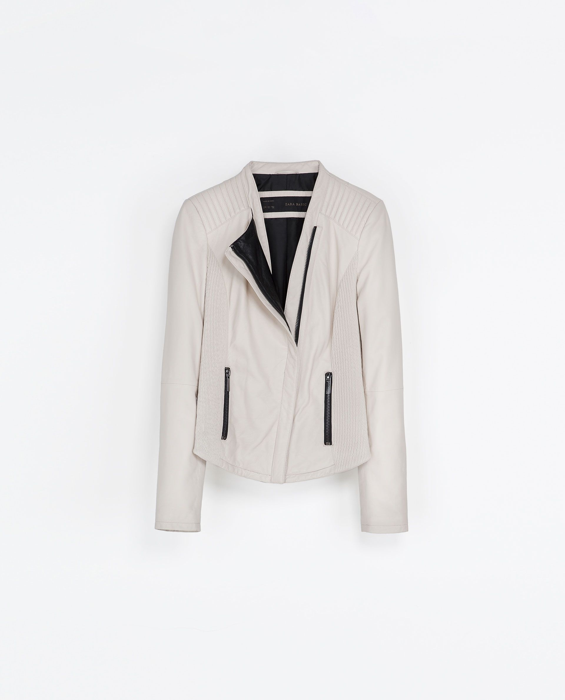 Cream leather jacket from Zara because Zara knows me