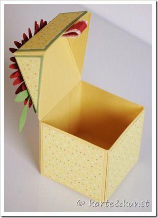 anleitung f r diese kleine klapp box basteln box schachteln und schachtel. Black Bedroom Furniture Sets. Home Design Ideas