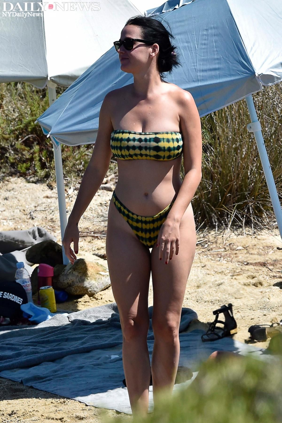 Katy Perry, Who Opted To Keep Her Bathing Suit On -5285