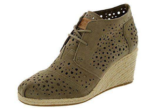 Amazon.com   Toms Women's Desert Wedges Taupe Moroccan Cutout Casual Shoe  8.5 Women US   Boots