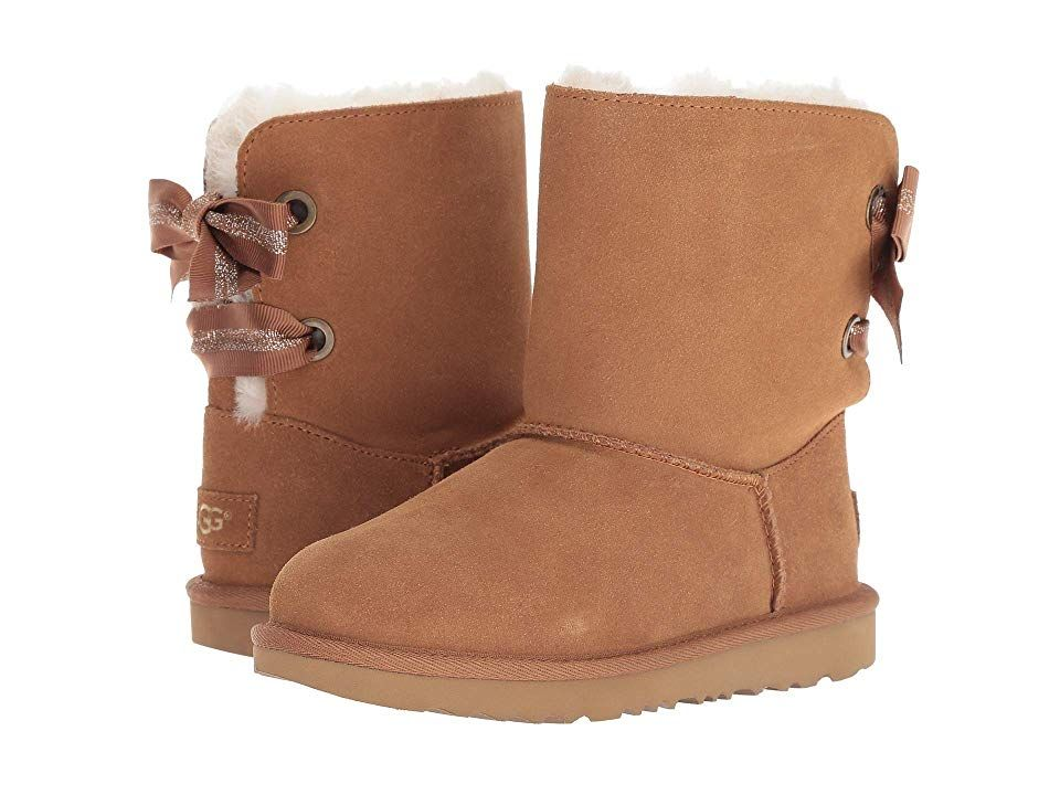 bba5103f725 UGG Kids Customizable Bailey Bow II (Little Kid/Big Kid) Girls Shoes ...
