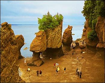 The Hopewell Rocks On New Brunswick Side Of Bay Fundy Canada