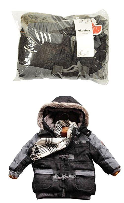 eb96b4829 Ekoobee Infant Baby Boys Thick Winter Warn Hooded Coats Jackets (3T ...
