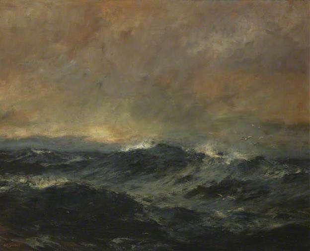 Early Morning, Irish Sea, by Bernard Finnigan Gribble #irishsea