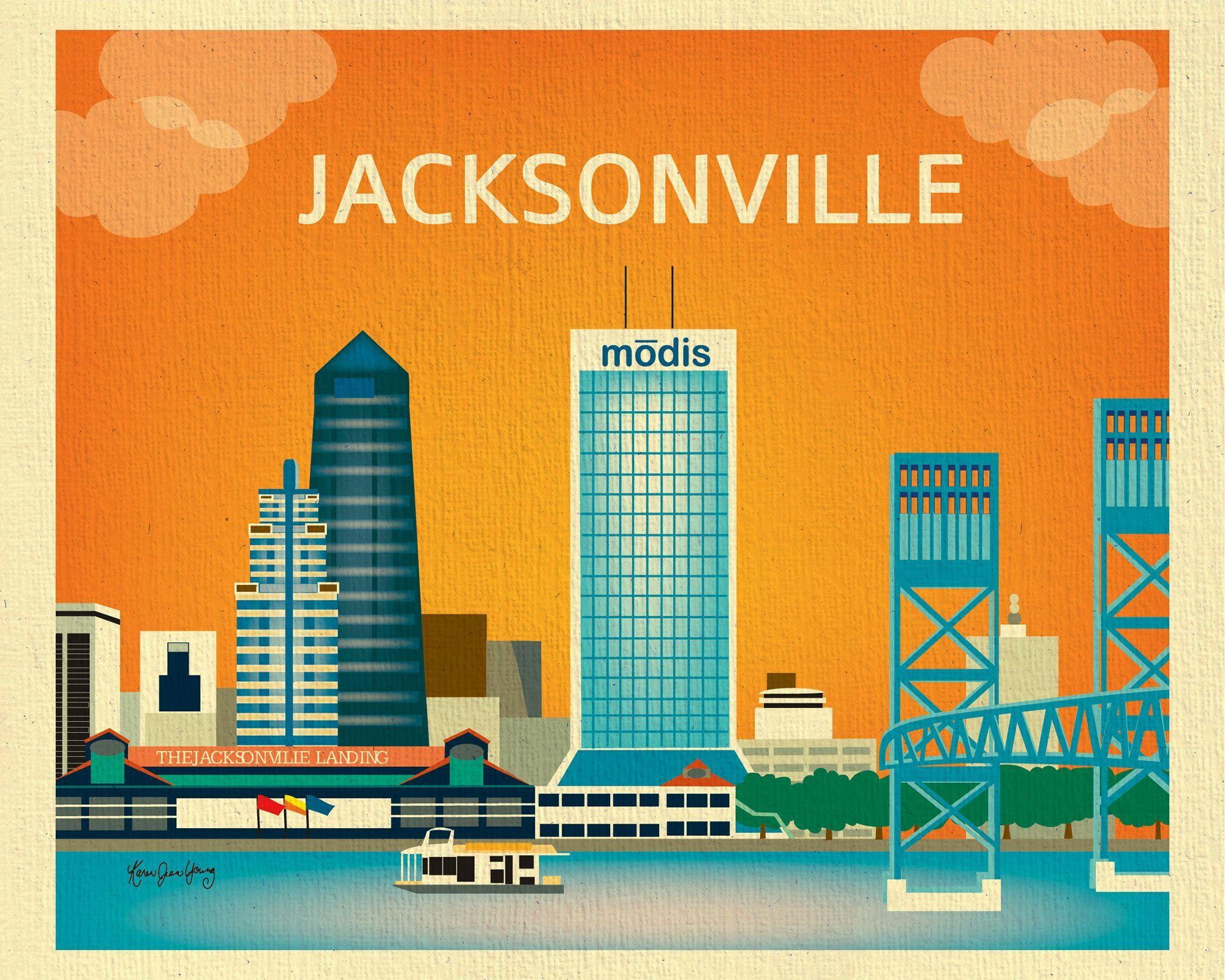 Jacksonville Florida Jacksonville Map Jacksonville Florida Florida Poster