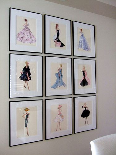 Great idea - favorite theme on prints in several frames | Office ...