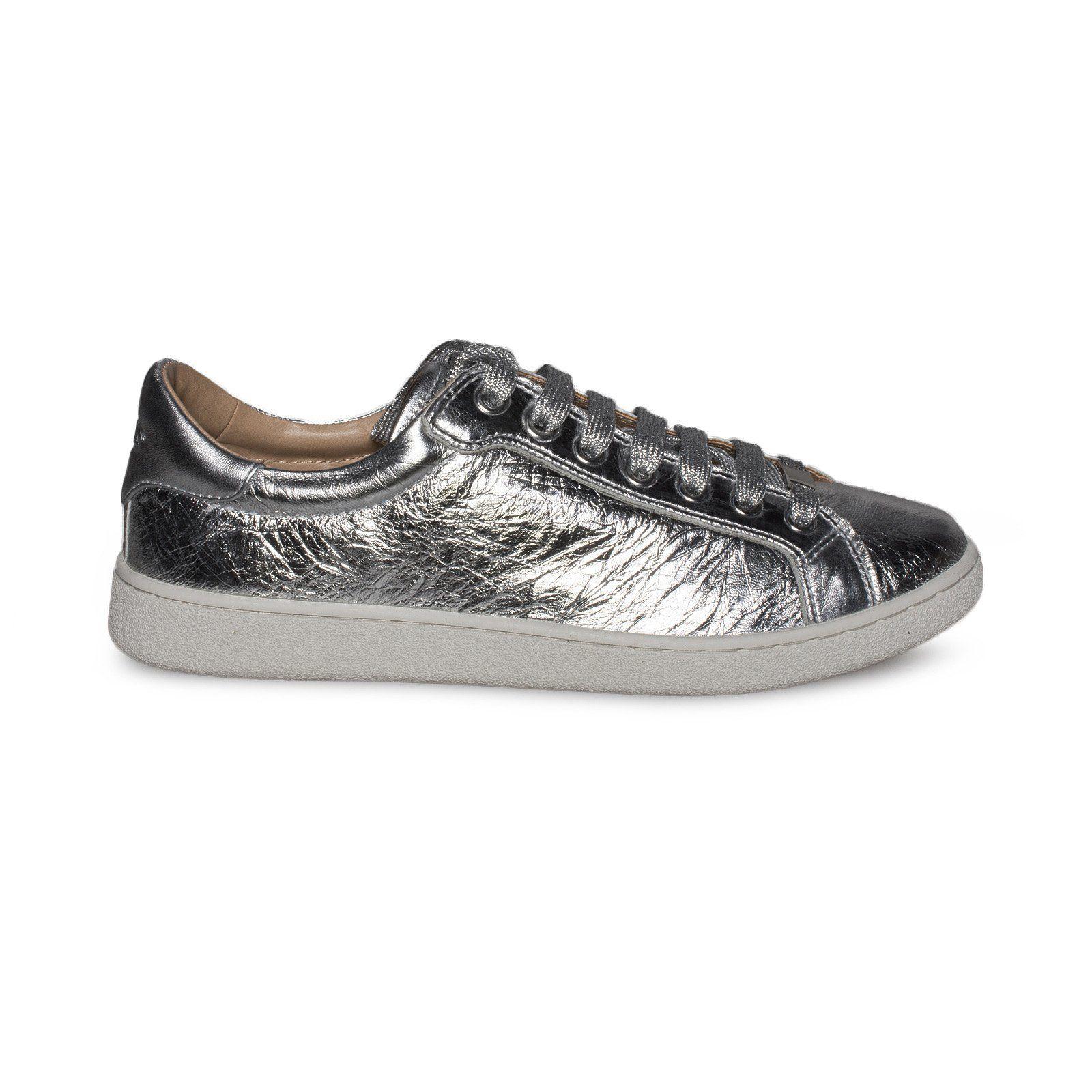 UGG Milo Metallic Silver Sneakers