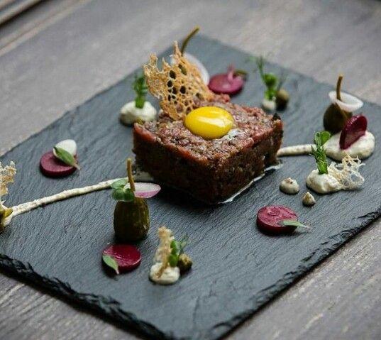 beef tartar miam pinterest haute cuisine gastronomie et cuisines. Black Bedroom Furniture Sets. Home Design Ideas