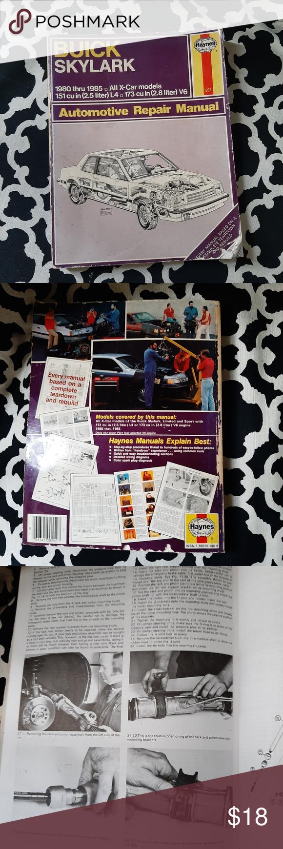 Buick Skylark 1980 1981 1982 1983 1984 1985 Repair Vintage