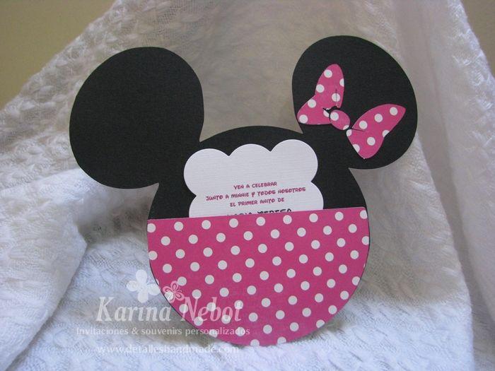 Moldes Para Invitaciones De Minnie Mouse Imagui
