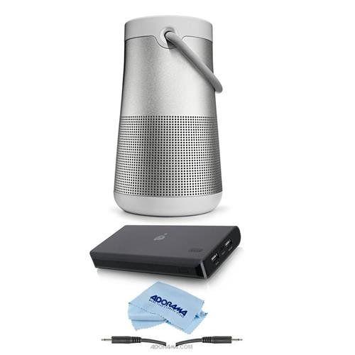 Lux Gray Portable Splashproof Bluetooth Speaker Bose SoundLink Revolve