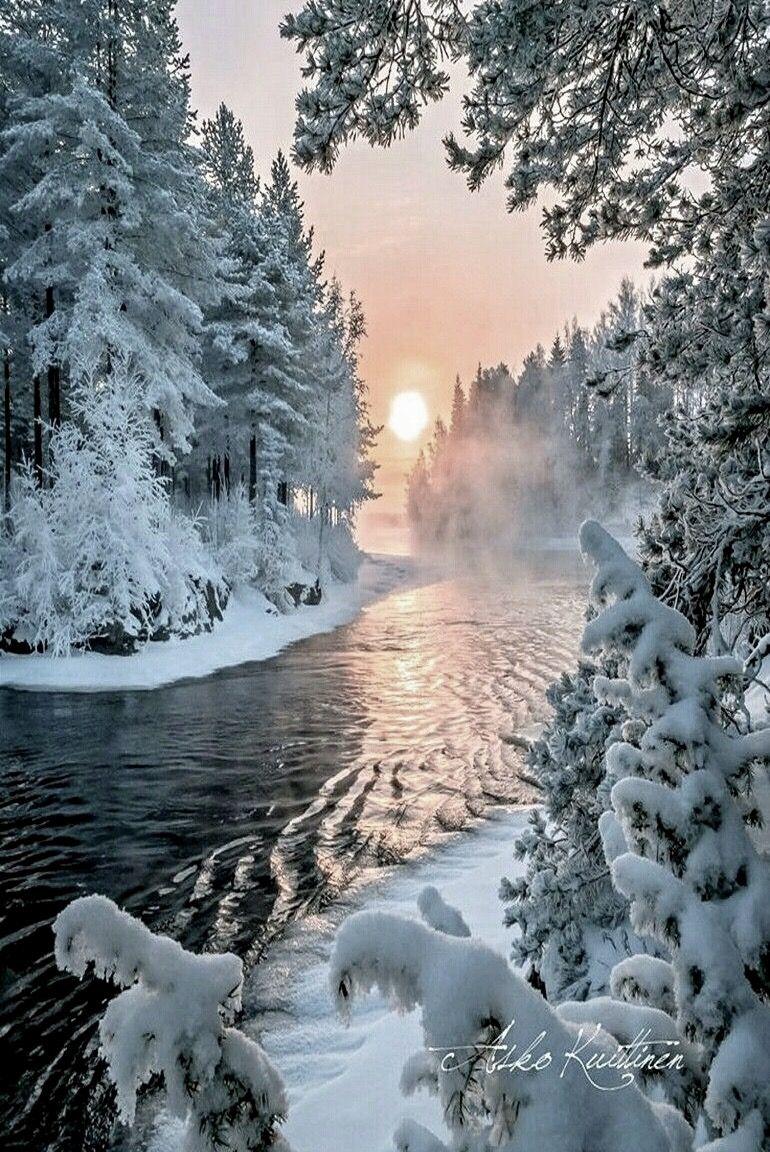 Paysage enneig animal paysage hivernal paysage hiver et paysage enneig - Paysage enneige dessin ...