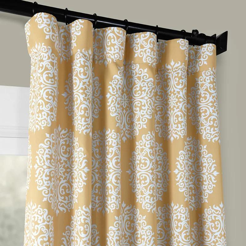 Dayton Damask Room Darkening Thermal Rod Pocket Single Curtain Panel Reviews Birch Lane Drapes Curtains Curtains Custom Drapes