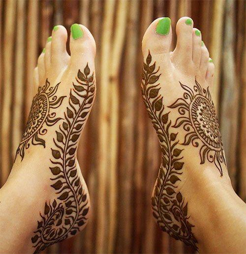 top 50 foot henna designs kanu henna und einfach. Black Bedroom Furniture Sets. Home Design Ideas
