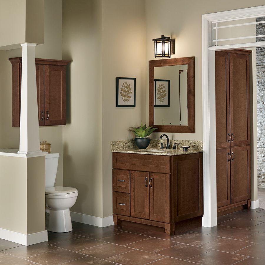 Villa Bath By Rsi Sanabelle Cognac Bathroom Vanity (Common: 18 In X 22 In;  Actual: 18 In X 21.5 In) Lvs18v Cog