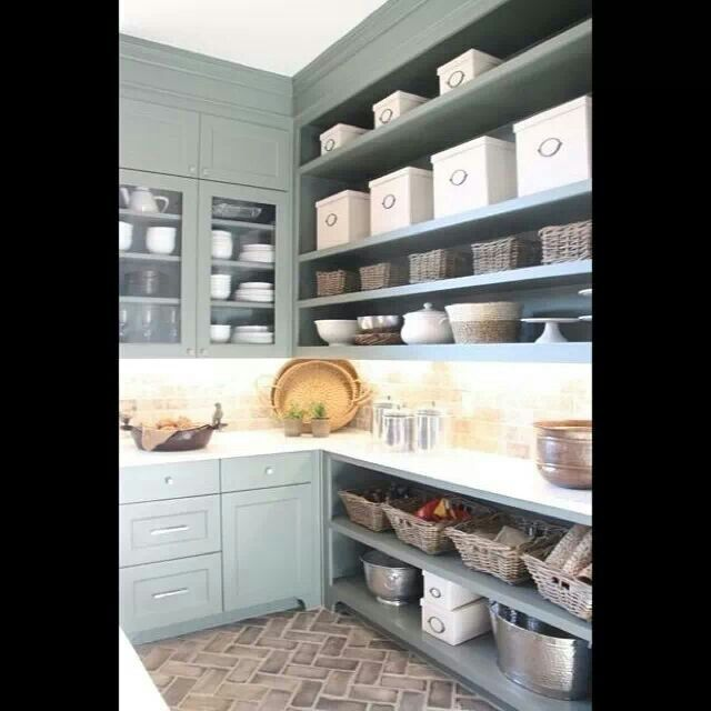 Kitchen Utility Room Renovation In Claygate: Brick Floor Kitchen, Pantry Laundry Room