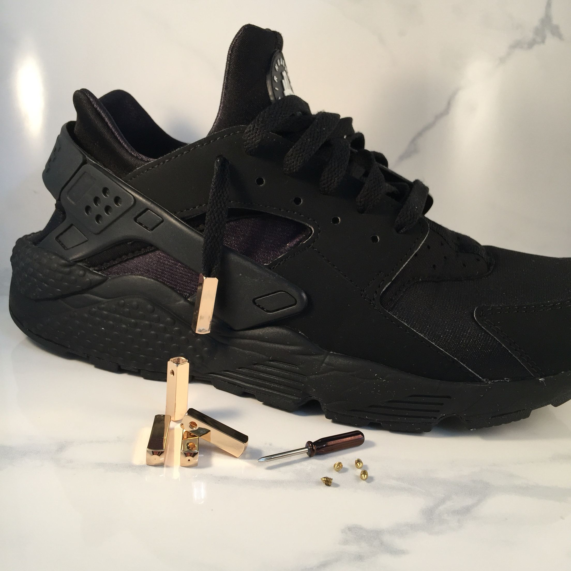 huaraches with our new shoe lace tips available in gold. Black Bedroom Furniture Sets. Home Design Ideas