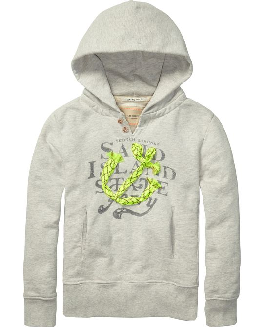 Worked-out hoodie met patches - Scotch & Soda