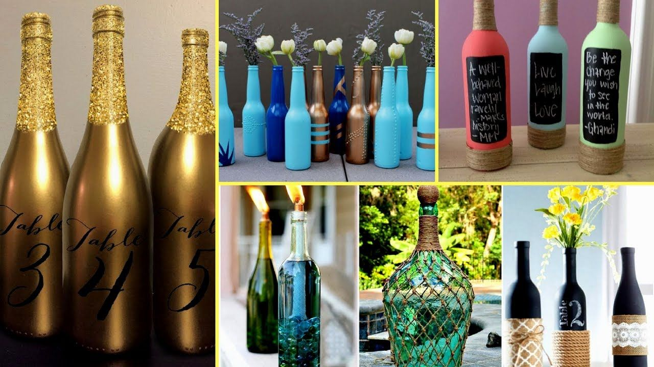 Wine Bottle Decorating Ideas 🍼30  Beautiful Wine Bottle Decorating Ideas  Diy Recycled Room
