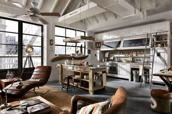 Vintage Chic Kitchens From Marchi Cucine Industrial Style Kitchen Industrial Kitchen Design Industrial Interiors