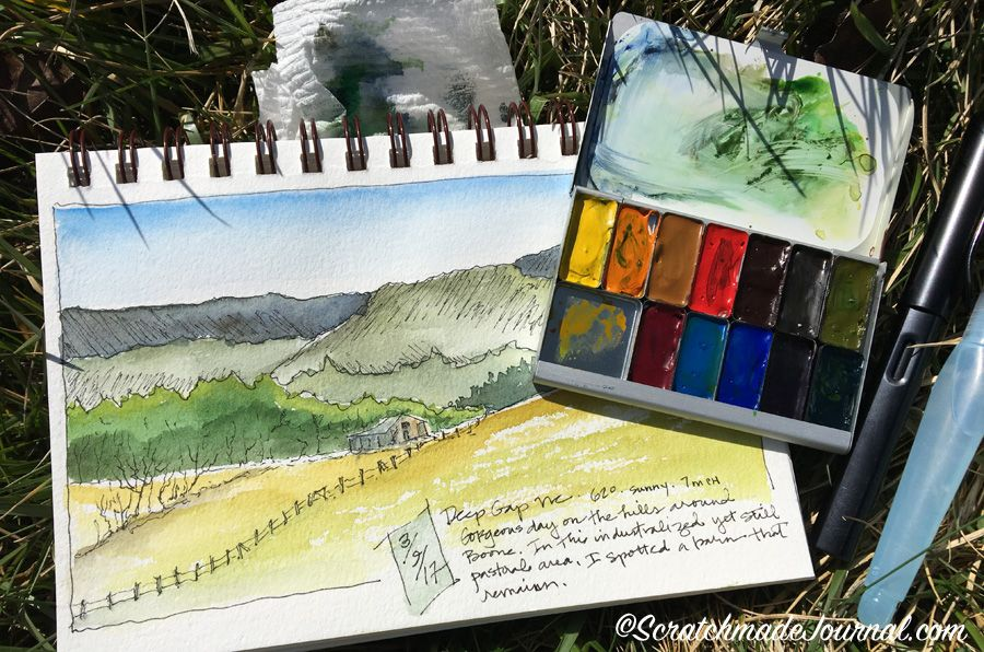 Expeditionary Art Pocket Palette Review Palette Aquarelle