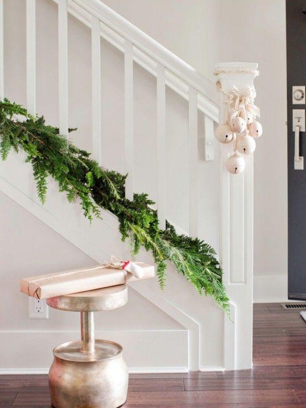 Weihnachtsdeko Im Landhausstil weihnachtsdeko landhausstil treppenhaus dekorieren flur dekoideen