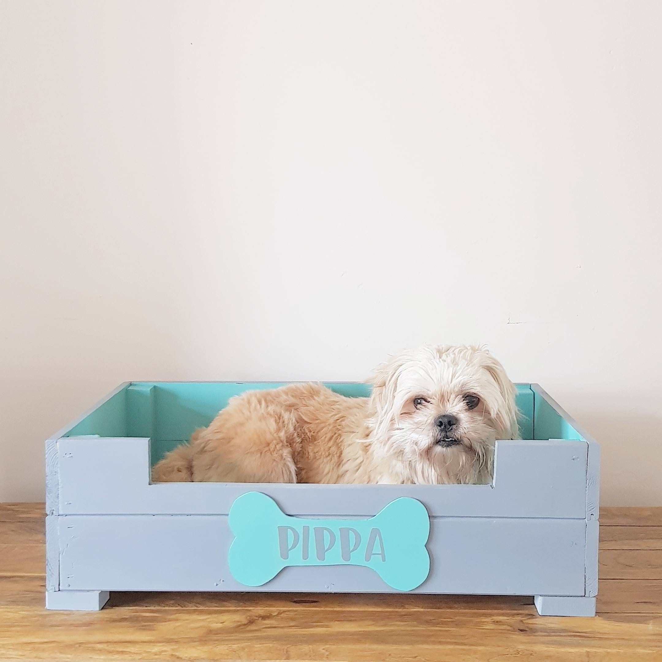 Personalised Dog Bed Wooden Dog Bed Wooden Pet Bed Raised Dog Bed Puppy Must Have Personalized Dog Beds Personalized Pet Gifts Wooden Pet Bed