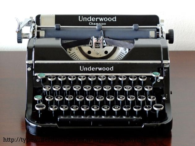 1937 Underwood Champion From the Virtual Typewriter Collection of Nick T