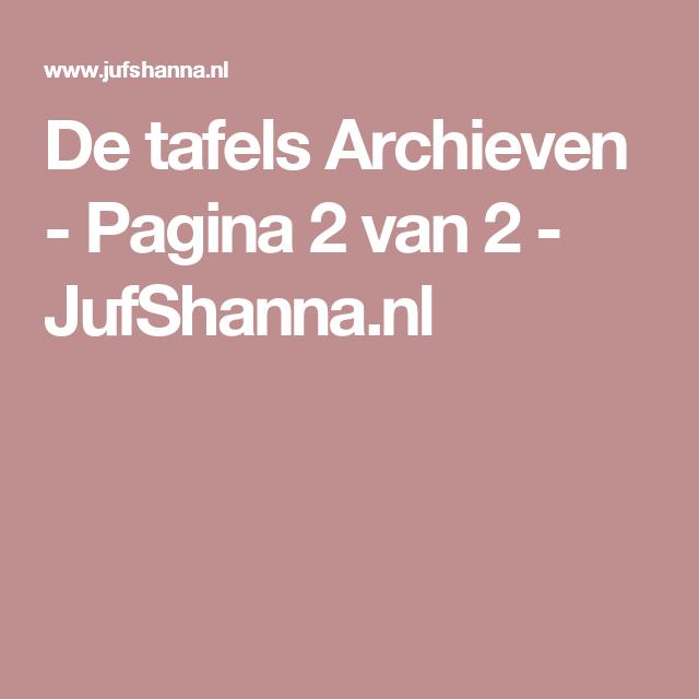 De tafels Archieven - Pagina 2 van 2 - JufShanna.nl