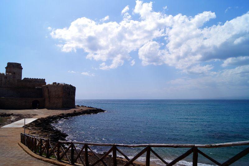 Spiaggia de Le Castella in Crotone, Calabria Spiaggia