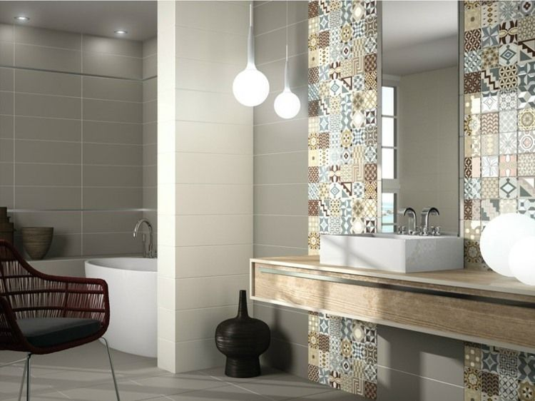 carrelage mural salle de bain ides et astuces design - Faience Salle De Bain Moderne