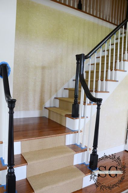 Best Stair Makeover Adding A Natural Looking Runner Stair 400 x 300
