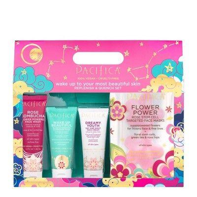 Pacifica Rose Holiday Set 4ct Women S Night Face Cream Unicorn Bath Bombs Face Wash