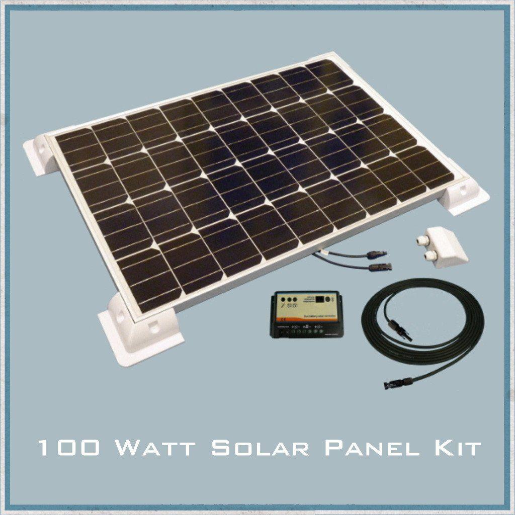 100w Solar Panel Caravan Motorhome Kit Solar Panels Solar Solar Power Kits