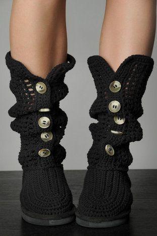 LIVS Alex Cardigan Boots in Black $39 at www.tobi.com | Crochet ...