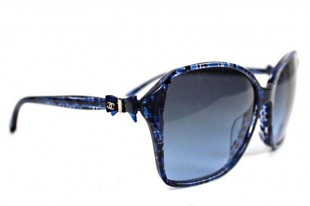Chanel Blue Tweed Bow Sunglasses | Glares To Shade U up | Pinterest ...