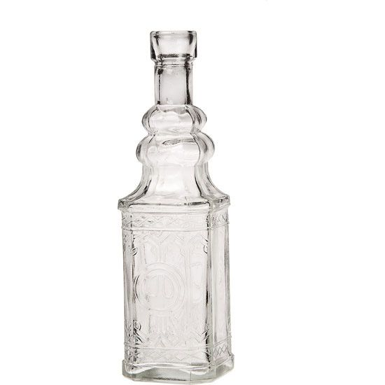 Decorative Clear Glass Bottles Custom Clear Square Decorative Glass Bottles  Cg75D  Ideas For Michelle Design Inspiration